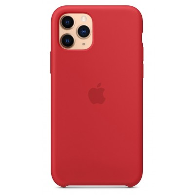 Накладка iPhone 11 Pro Max Silicone Case Red