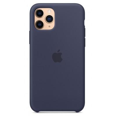 Накладка iPhone 11 Pro Max Silicone Case Midnight Blue