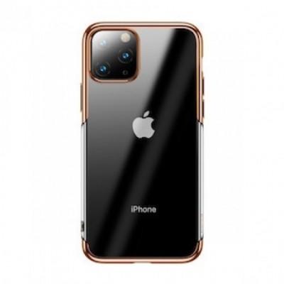 Накладка iPhone 11 Pro Joyroom Plating Series Transparent-Gold