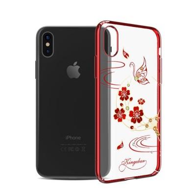 Накладка iPhone X KINGXBAR Swarovski Red