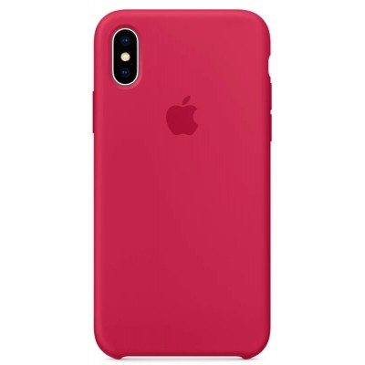 Накладка iPhone X Silicone Case Rose Red (middle)