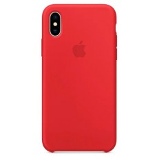 Накладка iPhone X Silicone Case Red (middle)