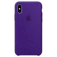 Накладка iPhone X Silicone Case Ultra Viole (middle)