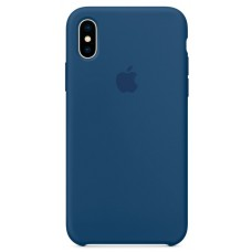 Накладка iPhone X Silicone Case Blue Cobalt (middle)