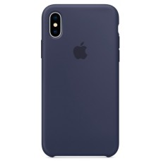 Накладка iPhone X Silicone Case Midnight Blue (middle)