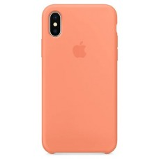 Накладка iPhone X Silicone Case Peach (middle)