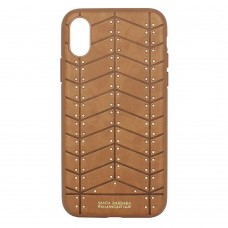 Накладка iPhone X POLO Armor Leather Brown