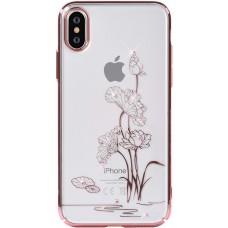 Накладка iPhone X GIRLSCASE Swarovski Transparent Flower
