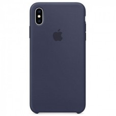 Чехол iPhone XS Max Silicone Case Midnight Blue