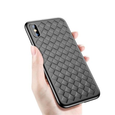 Накладка iPhone XS Max Baseus Weaving Black