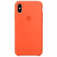 Накладка iPhone X Silicone Case Spisy Orange