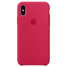 Накладка iPhone X Silicone Case Rose Red