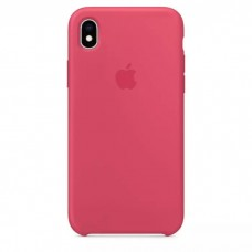 Чехол iPhone XR Silicone Case Hibiscus Pink