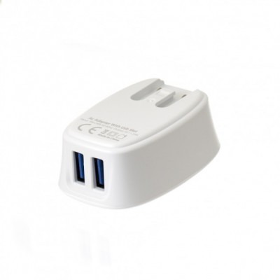 Зарядний пристрій EMY MY-228 2USB White 2.4A + microUSB