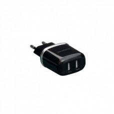Зарядний пристрій Borofone BA25A 2USB + microUSB