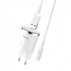 Зарядний пристрій HOCO C37A Thunder Power Charger 1 USB 2.4A + micro USB