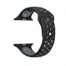 Ремінець  Apple Watch 38mm COTEetCI Nike Sport Band Black/Gray