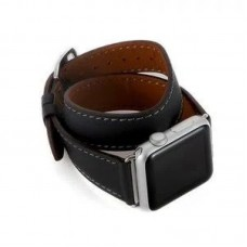 Ремінець Apple Watch 42mm COTEetCI Leather Band Storm Gray