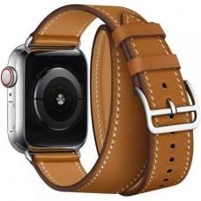 Ремінець Apple Watch 42mm COTEetCI Leather Band Saddle Brown
