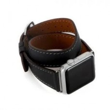 Ремінець  Apple Watch 38mm COTEetCI Leather Band Storm Gray