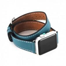 Ремінець Apple Watch 42mm COTEetCI Leather Band Marine Blue