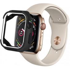 Чохол Apple Watch 44mm COTEetCi TPU Case Black/White