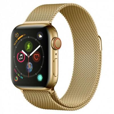 Ремінець Apple Watch 44mm COTEetCI Gold Milanese Loop