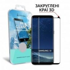 Захисне скло Samsung Galaxy S8 MakeFuture (MG3D-SS8B) 3D FULL GLUE Black