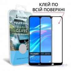 Захисне скло Huawei Y7 (2019) Makefuture Full Glue Black