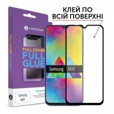 Захисне скло Samsung Galaxy M20 MakeFuture Full Glue Black