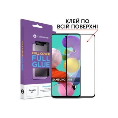 Захисне скло Samsung Galaxy А51 MakeFuture Full Glue Black