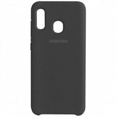 Накладка Samsung A20S (2019) Silicon Case Black