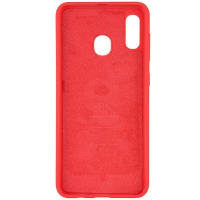 Накладка Samsung A20S (2019) Silicon Case Red