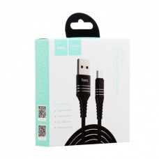 Кабель Hoco U46 Tricyclic MicroUSB Black
