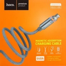 Кабель Hoco U40A Magnetic Absorption MicroUSB 1m
