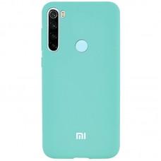 Накладка Xiaomi Redmi Note 8 Silicon Case Logo Turquoise