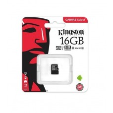 Карта пам'яті MicroSD 16 Gb (class10) UHS-l Canvas Kingston