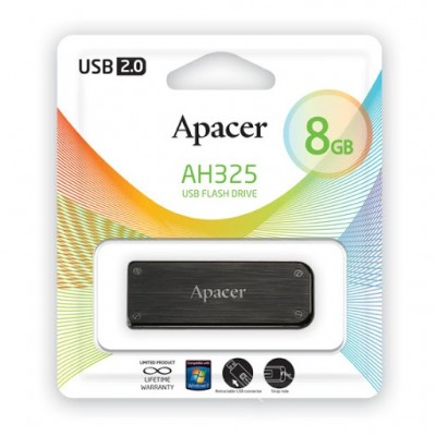 USB Flash 8Gb Apacer (AH325) Black USB 2.0