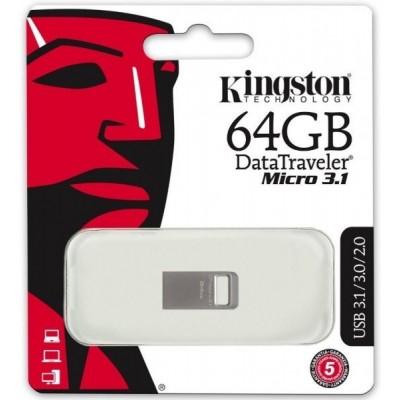 USB Flash 64Gb Kingston (DT50) Metal Blue USB 3.1