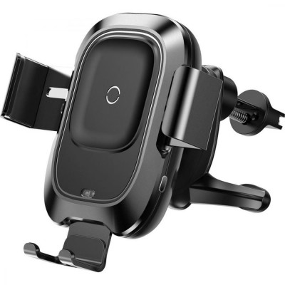 Автотримач Baseus Wireless Changer BASEUS Smart Vehicle Bracket Black