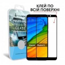 Захисне скло Xiaomi Redmi 5 MakeFuture Full Glue Black