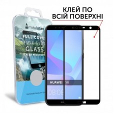 Захисне скло Huawei Y6 (2018) Makefuture Full Glue Black