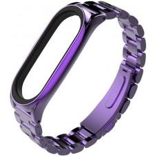 Ремінець для фітнес-браслета Xiaomi Mi Band 4 Metal Strap Light Purple