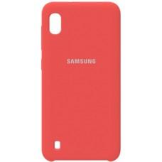 Накладка Samsung A01 Silicone Case Peach
