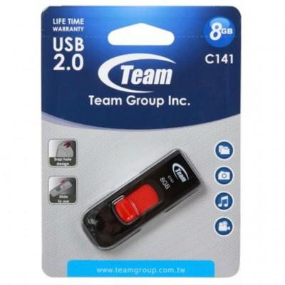 USB Flash 8Gb Team C141 Black/Red (TC1418GR01)