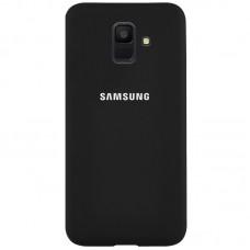 Накладка Samsung A6 Silicone Cover  Black