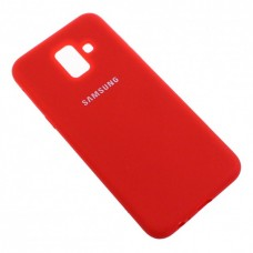 Накладка Samsung A6 Silicone Cover Red