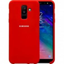 Накладка Samsung A6+ (А605) (2018) Silicone Cover Red