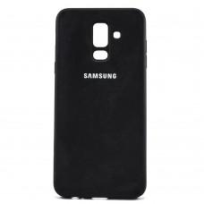 Накладка Samsung A6+ (А605) (2018) Silicone Cover Black