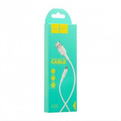 Кабель Hoco X25 Soarel Micro USB White